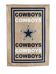 NFL Burlap Garden Flag: Dallas Cowboys