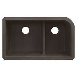 "Transolid 31"" L x 18.5"" W Double Undermount Kitchen Sink - Espresso"