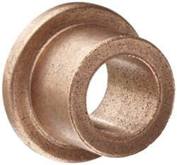"Bunting Bearings EF081210 Flanged Bearings, Powdered Metal SAE 841, 1/2 "" Bore x 3/4 "" OD x 5/8 "" Length 1 "" Flange OD x 1/8 "" Flange Thickness (3 Pack)"