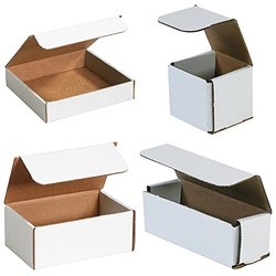 "Bauxko Corrugated Mailers 12 Pack - White - Size: 9""x5""x5"""