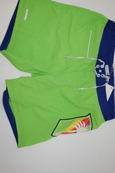 Arcte Allen Cox Men's Swimming Shorts - Lime Green/Blue - Size: Large