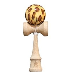 Leopard Design Super Kendama, Super Sticky, Free String