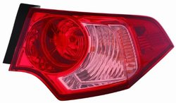 Depo 327-1904R-AS-PR Acura TSX Passenger Side Outer Tail Lamp Assembly with Bulb and Socket