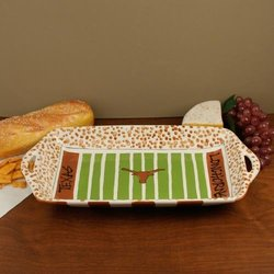 University Of Texas Ceramic Stadium Platter