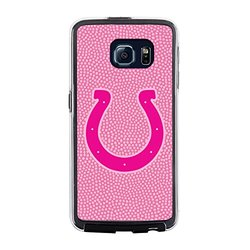 NFL Indianapolis Colts Football Pebble Grain Feel No Wordmark Samsung Galaxy S6 Case, Pink