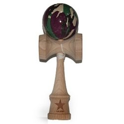 Camo Super Kendama, Super Sticky, Free String