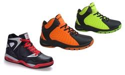 Dream Seek Men's Hi-Top Basketball Shoes - White/Black/Red - Size: 6.5