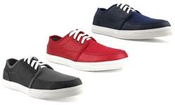Unionbay Men's Bothell Canvas Low Top Sneaker - Dark Grey - Size: 11