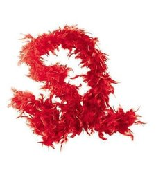 Fun Express Feather Boas Pack of 6 Movie Night Party Decorations - Red