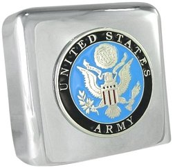 Austin Steiner Chrome United States Army Touring Horn Cover