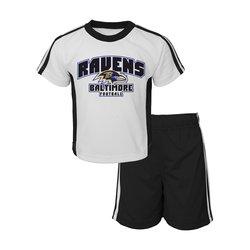 NFL Toddler Baltimore Ravens Tee & Mesh Short Set - White - Size: 4T