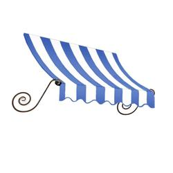 "Awntech 3 Ft Charleston Window/Entry Awning - Blue/White - Size: 44"" x 36"""