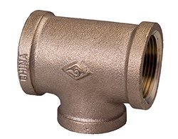 "Everflow Brass Lead Free Reducing Tee - Size: 2"" x 1"""