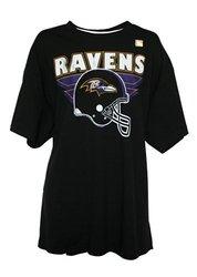 Sportsline NFL Men's Helmet Logo T-Shirt by G-III - Black - Size: XXL