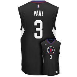 Adidas Men's NBA Chris Paul Replica Jersey - Black - Size: X-Large