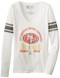 47 NFL San Francisco NFC Champ Women's Homerun Tee - White Wash - Size: M