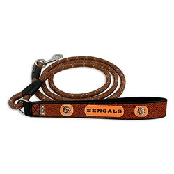 GameWear NFL Cincinnati Bengals Football Leather Rope Leash - Brown