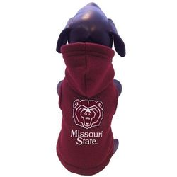 All Star Dogs NCAA Polar Fleece Hooded Dog Jacket - Maroon - Size: XXL