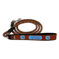 GameWear NFL Tennessee Titans Football Leather Rope Leash - Brown