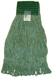 Zephyr 28334 Blendup Green 4-Ply Yarn Natural and Synthetic Fiber Blended X-large Loop Mop Head (Pack of 12)