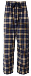 Fashion Flannel Pajama Pant, Navy/Gold, Small