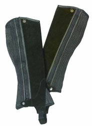 Ovation - Child Suede Ribbed Half Chaps , Brown , B12-14