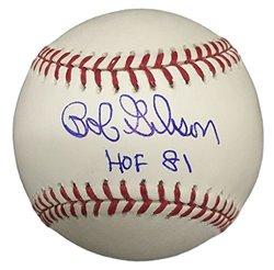 Autographed MLB Baseballs: Bob Gibson