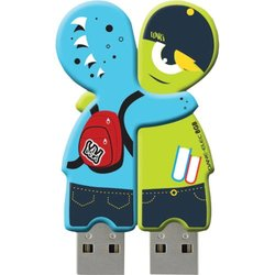 Dane-Elec 4GB USB Sharebytes Monster Flash Drive - 2 Pack (DA-Z04GSBK5-C)