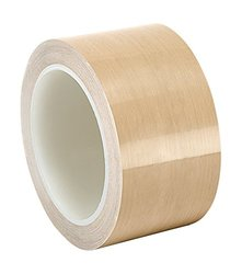 """TapeCase 2.25"""" x 36-yd Brown 0.004"""" Thick PTFE Film Tape Converted from 3M"""