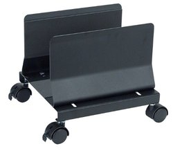 "Aidata 11""x10"" Desk Mobile CPU Stand - Black"