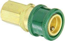 """Eaton Hansen GR605R Brass 600 Series Oxyacetylene Service, Coupler Socket, 1/4"""" Body size x 9/16"""" NPT Male"""