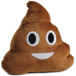 Plush Emoji Decorative Throw Pillow: Poop