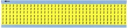 """Brady WM-2-YL-PK Solid Numbers Wire Marker Card 25Pk Card - Size: 1.5"""""""
