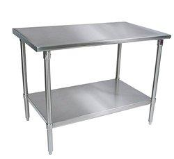 "John Boos 16 gauge Stainless Steel Work Table Base and Shelf 48"" x 24"""