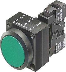 Siemens 3SB3251-0AA41 Pushbutton Illuminated Flat Button LED - Green