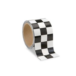 Low Vision Checkerboard Tape- and Black - 3-In. Wide white