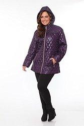 Women's Plus Size Puffer Coat: Purple/3XL
