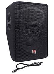 "Rockville 12"" 1000-W 2-Way Powered Active Stage Floor Monitor Speaker"