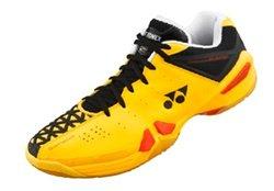 Yonex Men's Badminton Shoes - Black/Yellow/Red - Size: 11 (SHB01LTD)
