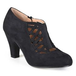 Journee Collection Women's Piper Toe High Heel Bootie - Black - Size: 9
