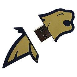 "Flashscot NCAA 8GB Montana State ""Fighting Bobcat Shape"" USB Drive(C9341Q)"