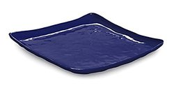 "GET ML-143-CB New Yorker 16"" Square Plate - Cobalt Blue"