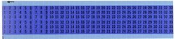 Brady WM-1-33-BL-PK Repositionable Vinyl Cloth (B-500), Black on Blue, Consecutive Numbers Wire Marker Card - Black on Blue (25 Cards)