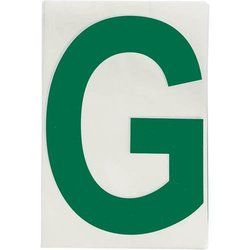 """Brady 121730, ToughStripe Die-Cut Numbers and Letters, 4"""" x 8"""" GREEN (Pack of 10 pcs)"""