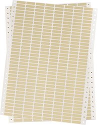 "Brady DAT-50-652-10 0.900"" Width x 0.250"" Height, B-652 High Temperature Amber Polyimide, Amber Datab Dot Matrix Printable Label (Pack of 10000)"