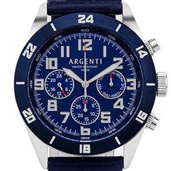 Argenti Damar Men's Multi-function Watch: Agt-15115_c/blue Band-blue Dial