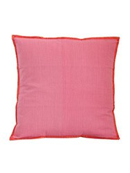 Gitika Goyal Home Khadi 20-Quilted Cushion Sham, Lines Design, Pink