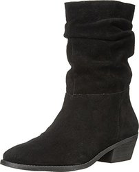 Jessica Simpson Women's Gilford  Split Suede Boot - Black - Size: 7.5