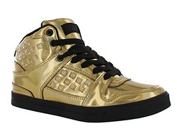 Gotta Flurt Hip Hop HD III Women's High-Top Sneakers Gold Black