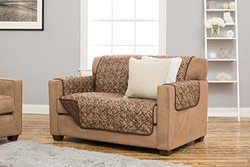 Printed Furniture Cover: Katrina Collection-chocolate/love Seat
